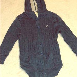 American Eagle button up sweater / Medium